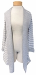 Eileen Fisher Organic Cotton & Cashmere Round Neck Long Cardigan - Dark Pearl