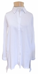 Eileen Fisher Organic Cotton Easy Jersey Classic Collar Shirt - White