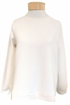 Eileen Fisher Organic Cotton Recycled Poly Ottoman Round Neck Top - Undyed