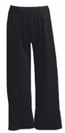 Eileen Fisher Organic Cotton Stretch Jersey Cropped Slouchy Pant - Black
