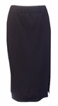 "Eileen Fisher Organic Cotton Stretch Jersey 30"" Calf Length Skirt - Black"