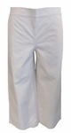 Eileen Fisher Organic Cotton Stretch Poplin Wide Leg Cropped Pant - Pebble