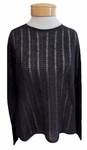 Eileen Fisher Organic Linen Cotton Grain Round Neck Top - Graphite - SOLD OUT