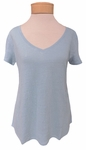 Eileen Fisher V-Neck Short Sleeve Tee - Scarab -SOLD OUT