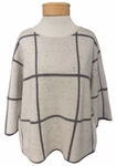 Eileen Fisher Peppered Organic Cotton Wool Bateau Neck 3/4 Sleeve Top - Maple Oat