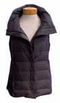 Eileen Fisher Recycled Nylon Down Collar Vest - Ash
