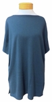 Eileen Fisher Seamless Italian Cashmere Bateau Neck Elbow Sleeve Tunic - Nile