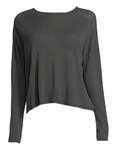 Eileen Fisher Seamless Sleek Tercel Knit Funnel Neck Top - Bark