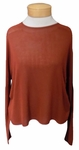 Eileen Fisher Seamless Sleek Tercel Knit Tunnel Neck Top - Paprika