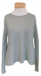 Eileen Fisher Sheer Hemp Round Neck Crop Top - Sea
