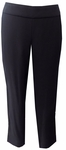 Eileen Fisher Silk Georgette Crepe Cropped Slim Ankle Pant - Black (S)