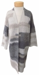 Eileen Fisher Brushed Alpaca Mohair Simple Long Cardigan - Ash
