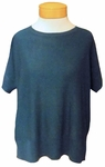 Eileen Fisher Sleek Tencel Merino Knit Round Neck Elbow Sleeve Top - Nile - SOLD OUT