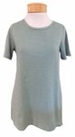 Eileen Fisher Slubby Organic Jersey Jewel Neck Short Sleeve  Tee - Sea