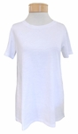 Eileen Fisher Slubby Organic Jersey Jewel Neck Short Sleeve  Tee - White