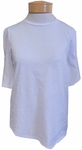 Eileen Fisher Stubby Organic Cotton Jersey Round Neck Elbow Top - White