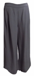 Eileen Fisher Tencel Viscose Crinkle Crepe Wide Leg Ankle Pant - Bark