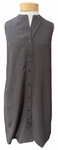 Eileen Fisher Twill Plaid Tencel Viscose Crepe Mandarin Collar Layering Top - Bark