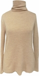 Eileen Fisher Ultra Fine Merino Rib Scrunch Neck Top - Maple Oat