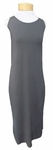 Eileen Fisher Viscose Jersey Scoop Neck Full Length Dress - Bark