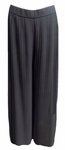 Eileen Fisher Wide Leg Knife Pleated Ankle Pant - Black
