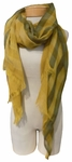 Eileen Fisher Wool Fading Ikat Check Scarf - Mustard Seed