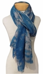 Eileen Fisher Wool Silk Digital Pathways Scarf - Nile
