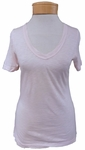 Hard Tail Basic Sexy V-Neck Tee - Crystal Pink