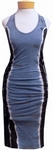 Hard Tail Double Trouble V-Neck Dress - Electric