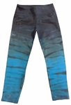 Hard Tail Flat Waist Capri - Rainbow Horizon - Evergreen