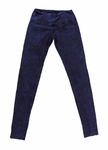 Hard Tail Flat Waist Mineral Wash Ankle Legging - Blue