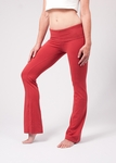 Hard Tail Foldover Bootcut Yoga Pant - Scarlet - SOLD OUT