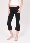 Hard Tail Foldover Cropped Bootleg Flare - Black