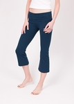 Hard Tail Foldover Cropped Bootcut Yoga Pants - Past Midnight (XS)