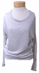 Hard Tail Mesh Back Scoop Pullover - Heather