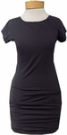 Hard Tail Sexy Cap Sleeve Ruched Dress - Navy