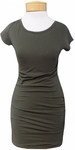Hard Tail Sexy Ruched Cap Sleeve Dress - Valley