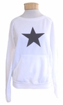 Hard Tail Star Pullover - White