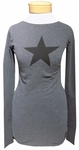 Hard Tail Star Tee - Dark Charcoal/Black