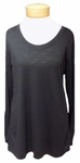 Indigenous Scoop Neck Slub Pullover - Black