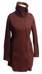 Indigenous Urban Zip Long Sweatshirt - Burgundy