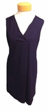 Lilla P. Pleat Front Dress - Navy