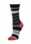 Little River Dotted Stripe Crew - Black Multi