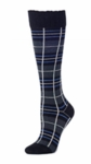 Little River Metallic Tartan Knee High - Black Multi - SOLD OUT