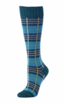 Little River Metallic Tartan Knee High - Teal Multi - SOLD OUT