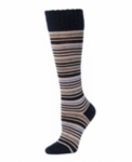 Little River Multi Stripe Knee High - Black Multi