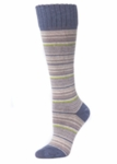 Little River Multi Stripe Knee High - Steel Multi