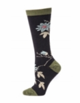 Little River Passion Vine Tall Crew - Black