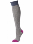 Little River Textured Over The Knee Herringbone Legwear - Oatmeal/Orchid