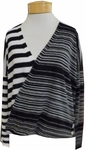 Margaret O'Leary Carly Wrap Pullover - Black/Ivory